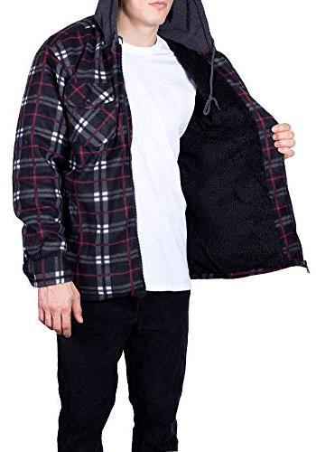 Mens Flannel Hoodie for Fleece 4X