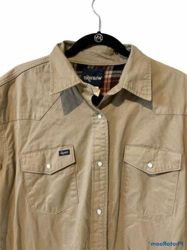 Wrangler Flannel Lined Pearl Snap Shirt