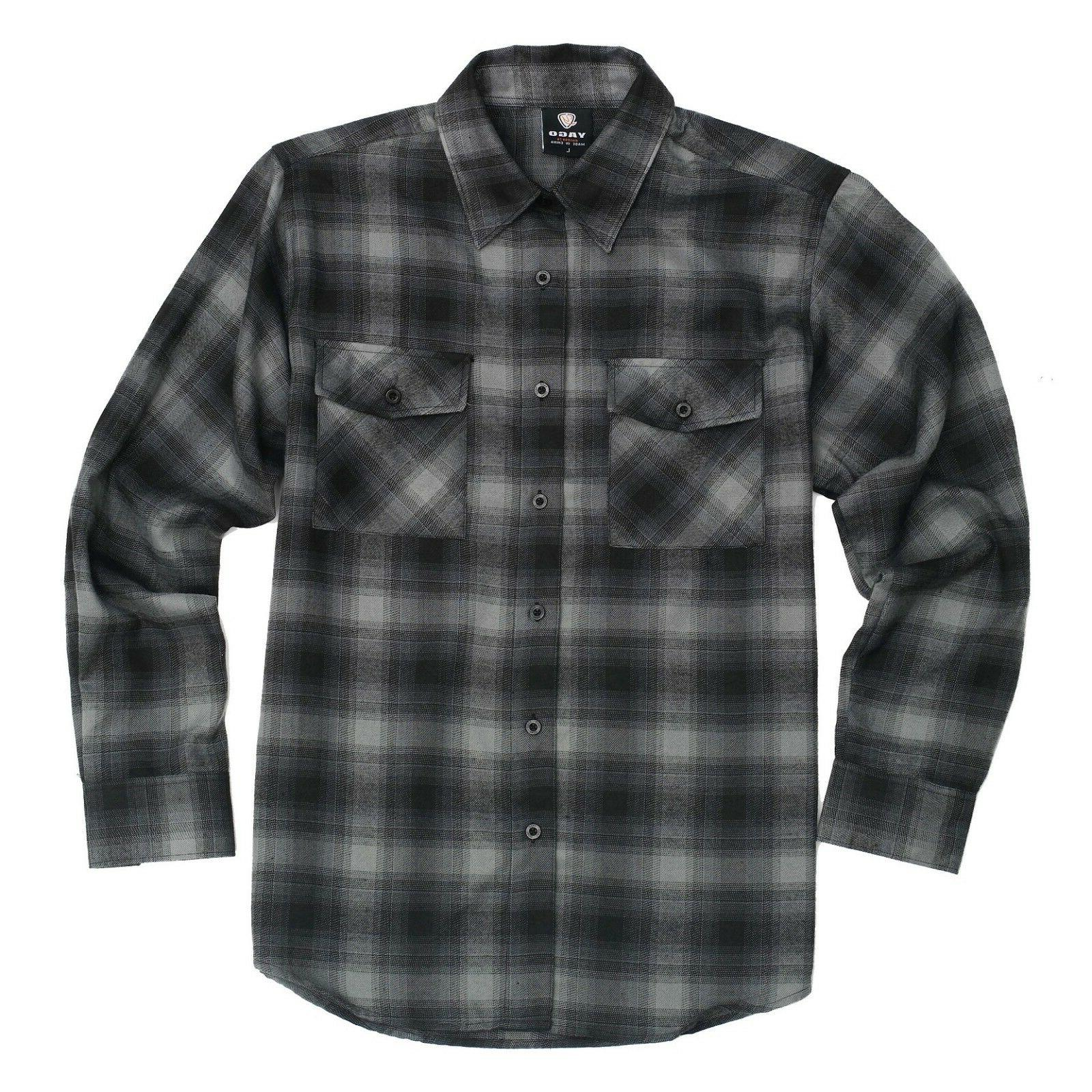 flannel long sleeve shirt black grey yg2508