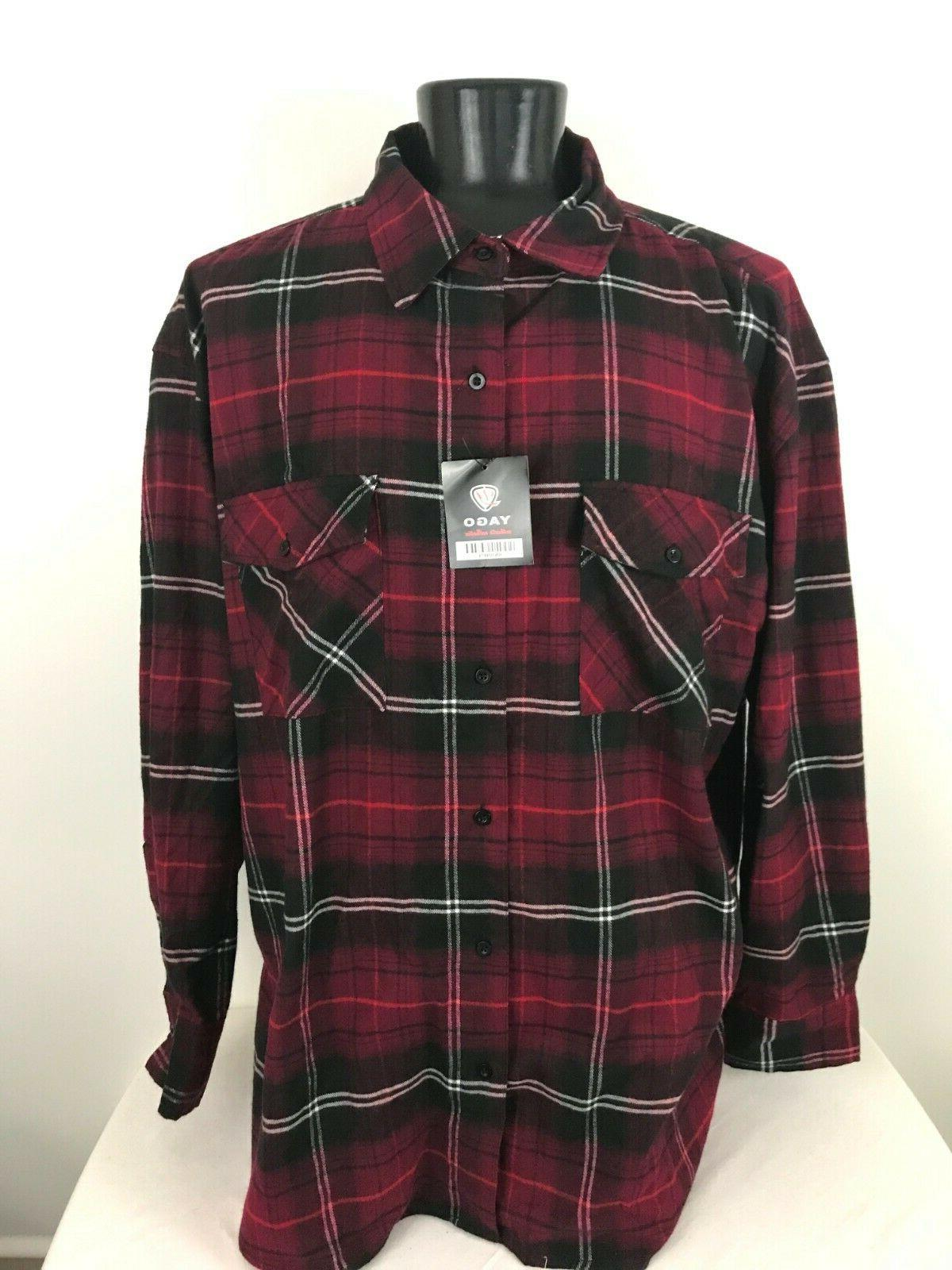 Yago Flannel Long Sleeve Shirt Plaid XXXXL
