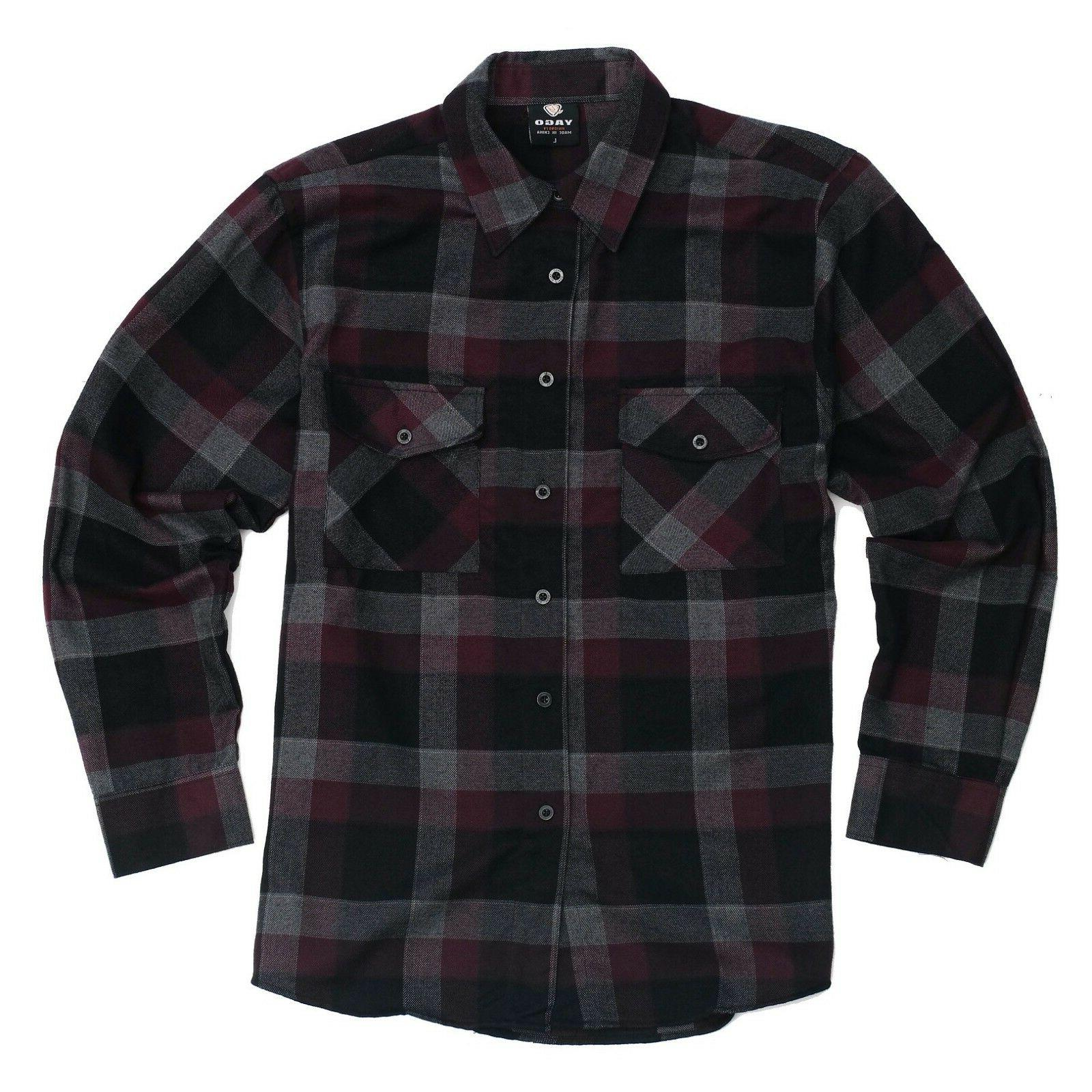 flannel long sleeve shirt burgundy grey black