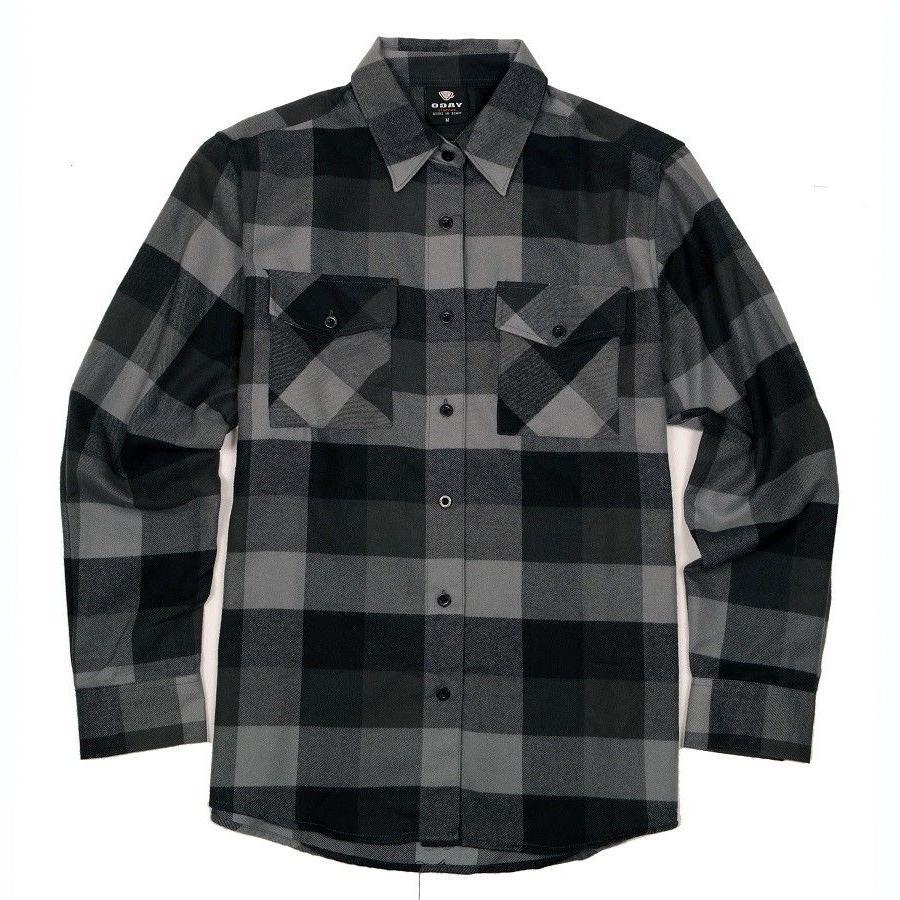 flannel long sleeve shirt gray yg2508 b4b