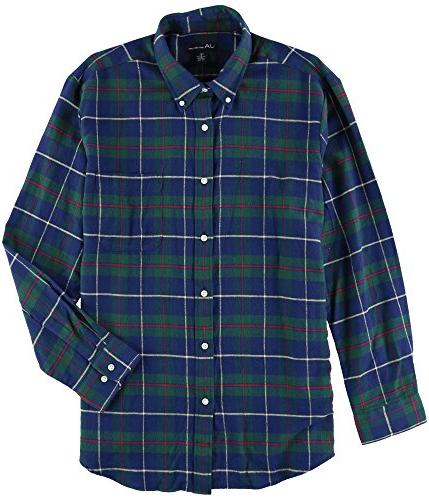 flannel plaid button down shirt