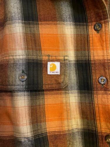 Carhartt Flannel Plaid Front Work Shirt Original