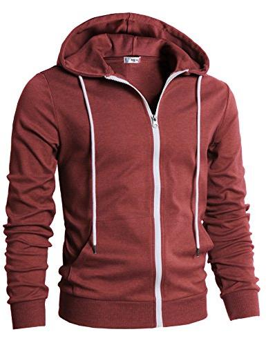 H2H Plaid Hoodie Front Maroon S/Asia