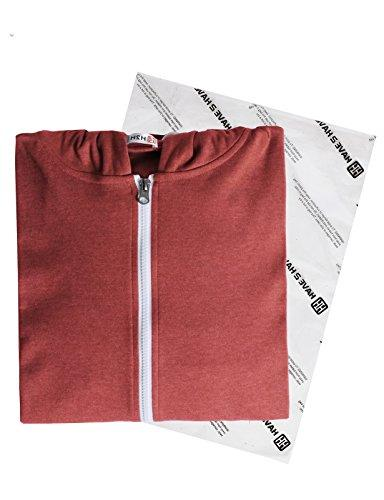 H2H Checkered Shirt Hoodie with Front Maroon S/Asia M