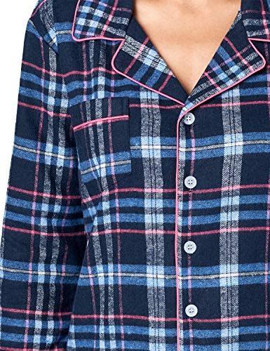 Flannel Plaid Button Pink, 4XL
