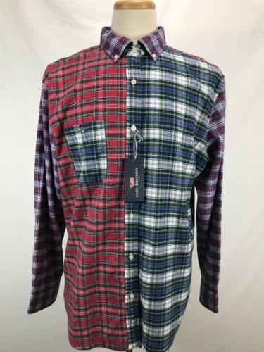 flannel plaid tucker party shirt multi color