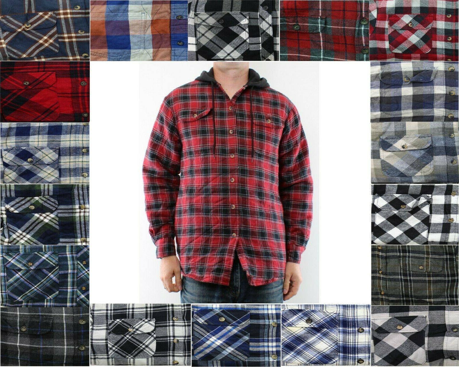 flannel shirt jacket men s hooded plaid