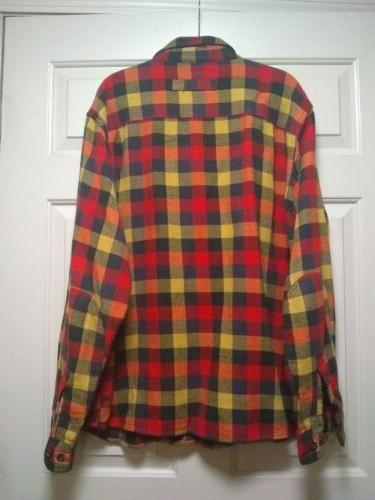Woolrich Flannel Shirt Long Sleeve XXL 100%