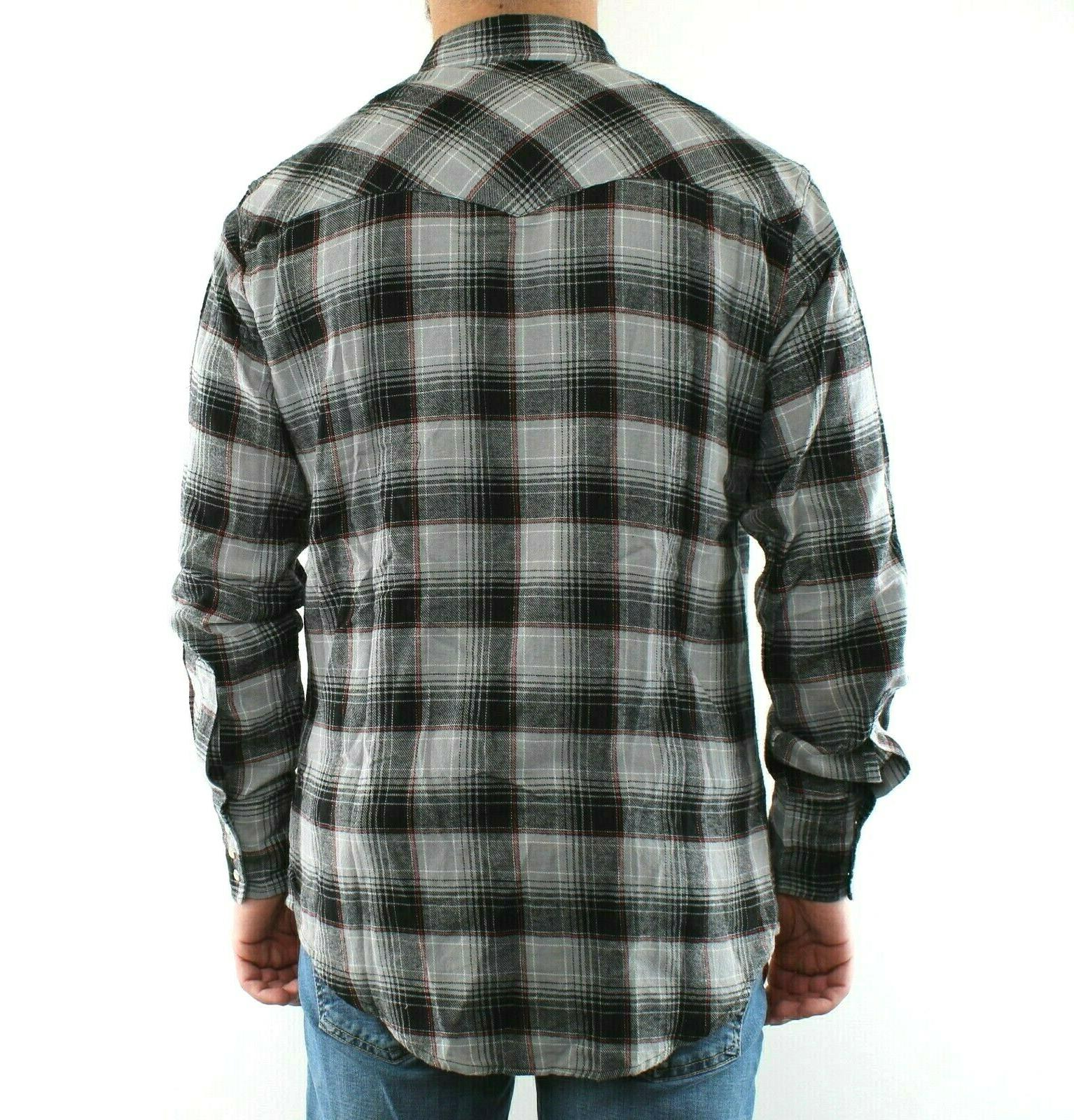 Wrangler Flannel Shirt Snap 2 Cotton