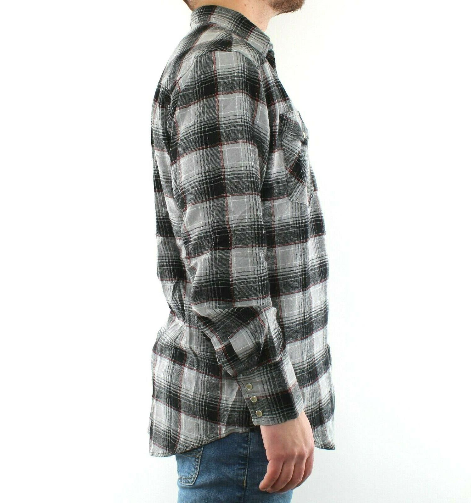 Wrangler Men's Plaid Long Sleeve Cotton