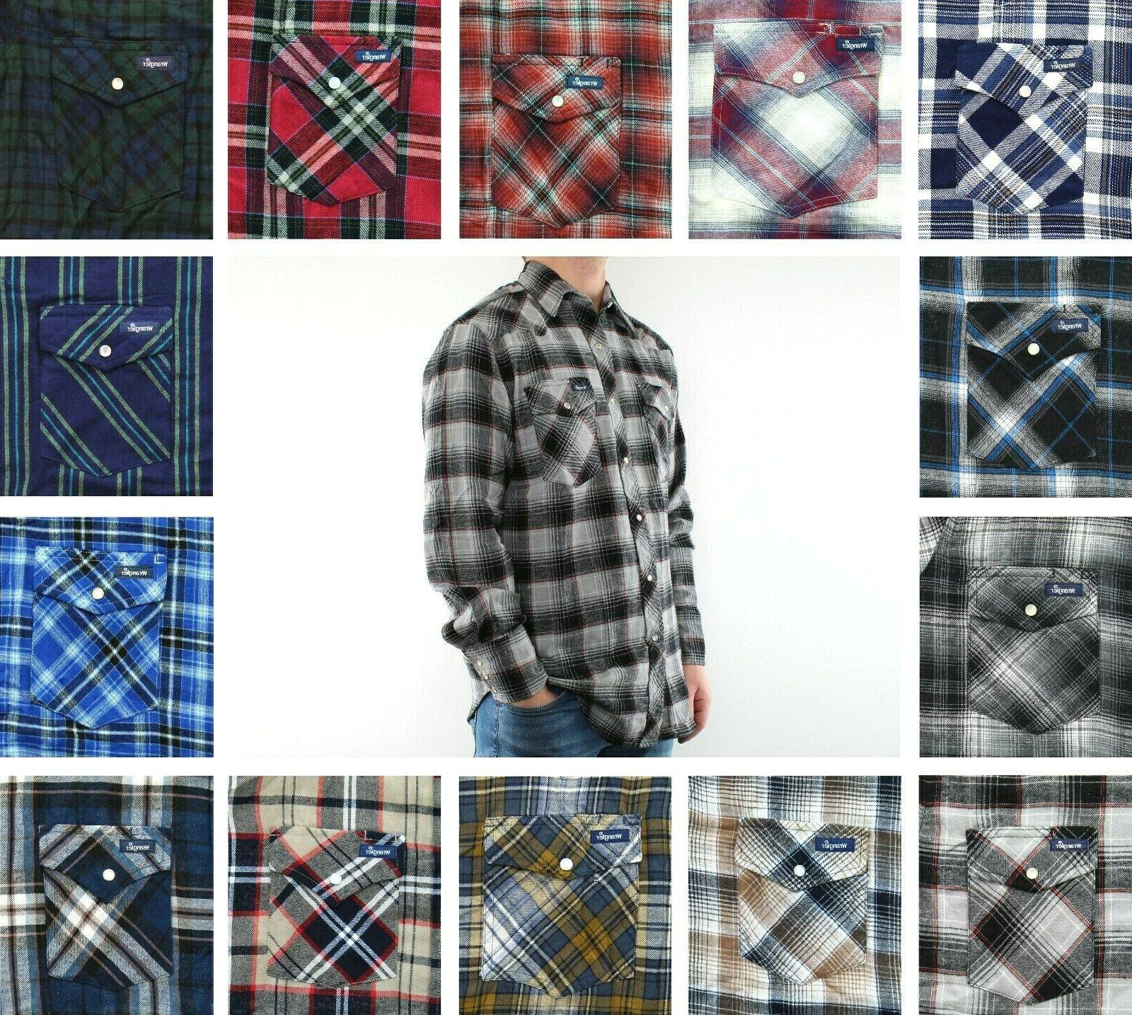 flannel shirt men s plaid western long