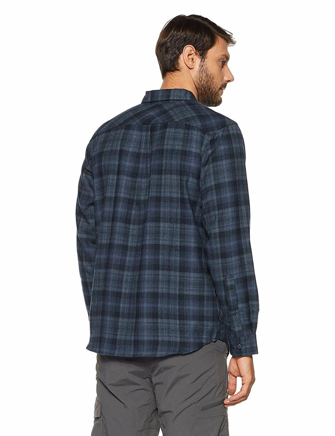 Columbia Flannel Shirt Silver $65 Sleeve Size