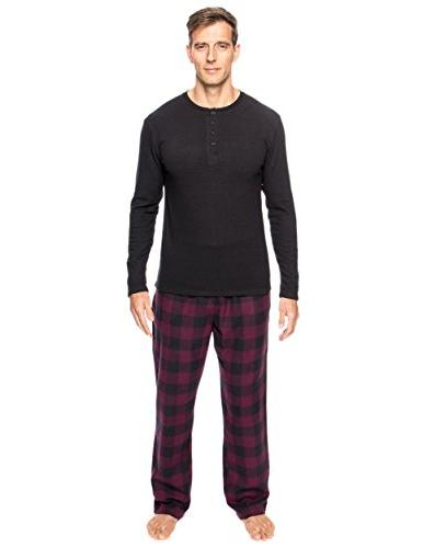 flannel thermal lounge set