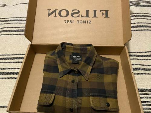 flannel work shirt mens brown xl long