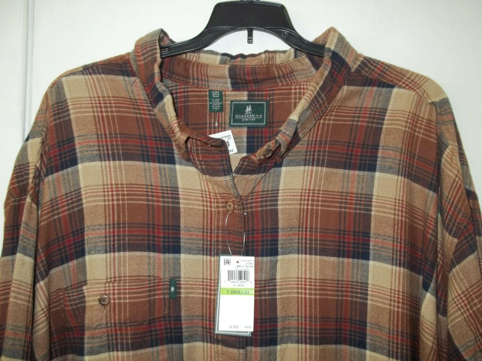 G 5XLT TALL Plaid Button NWT