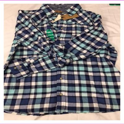 Jachs Girlfriend Girl's Flannel Shirts XL Teal/Blue