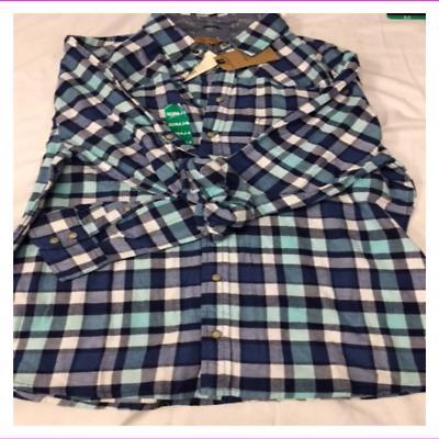 Jachs Girlfriend Girl's Flannel Shirts XL Teal/Blue
