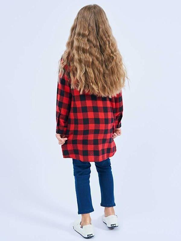 Ochenta Girls' Long Button Down Shirt