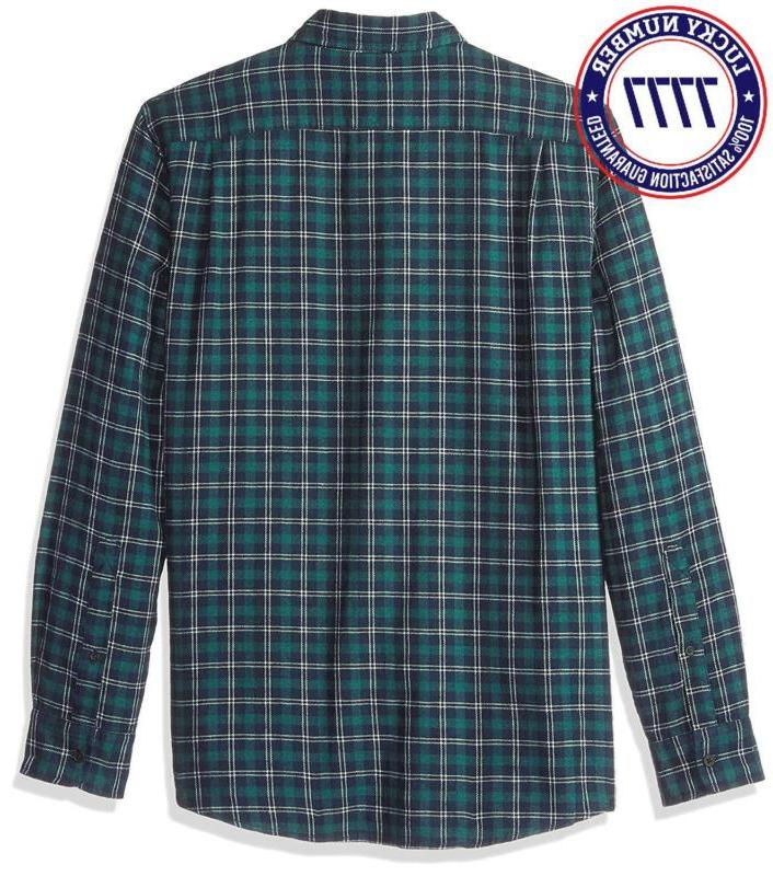 Goodthreads Standard-Fit Long-Sleeve Plaid Heather