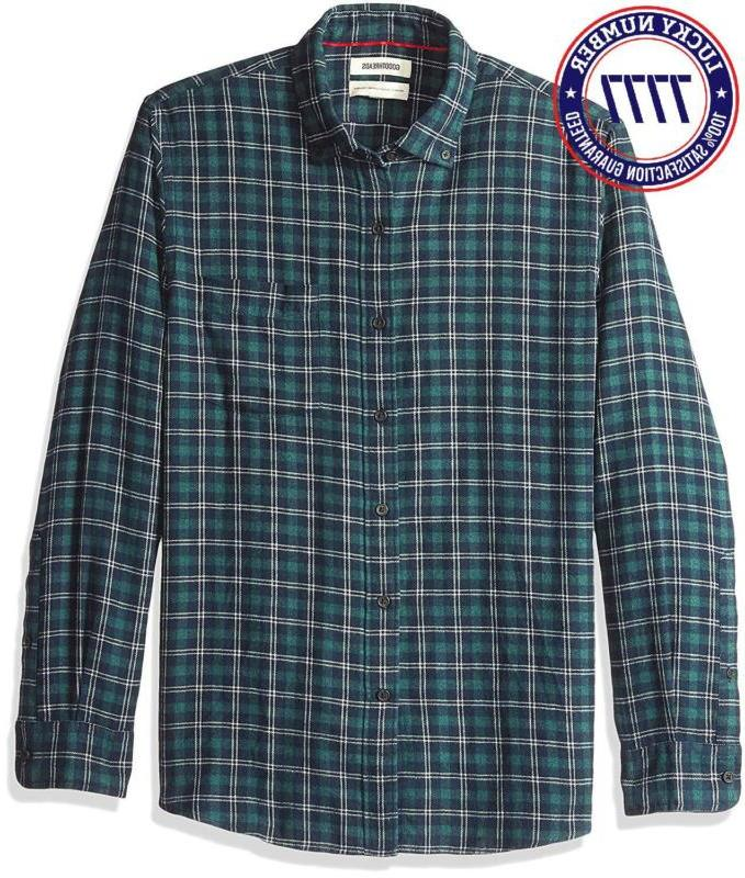 Goodthreads Men'S Standard-Fit Long-Sleeve Plaid Heather Flannel