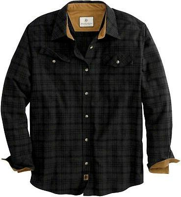 gray black melange flannel shirt mens xl