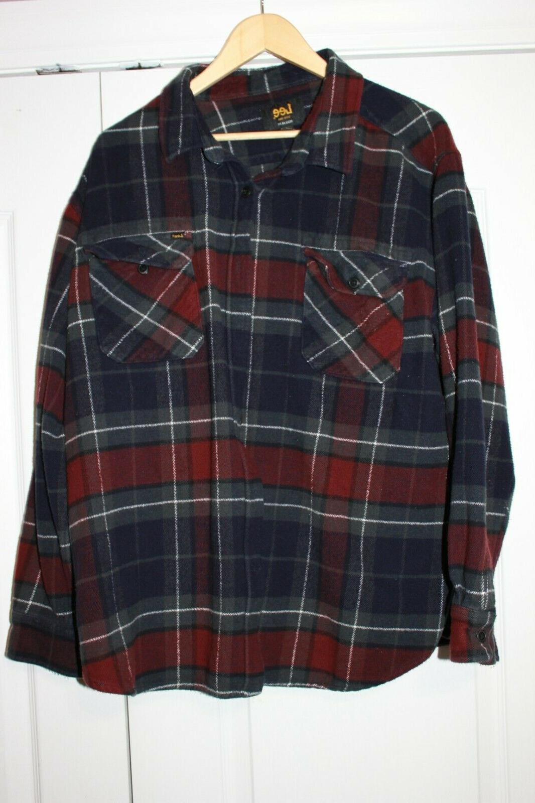 heavy duty flannel l s shirt xxl