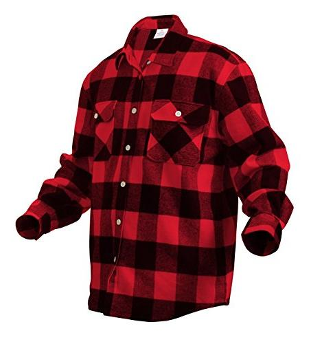 Rothco Heavy Flannel Shirt, Red,