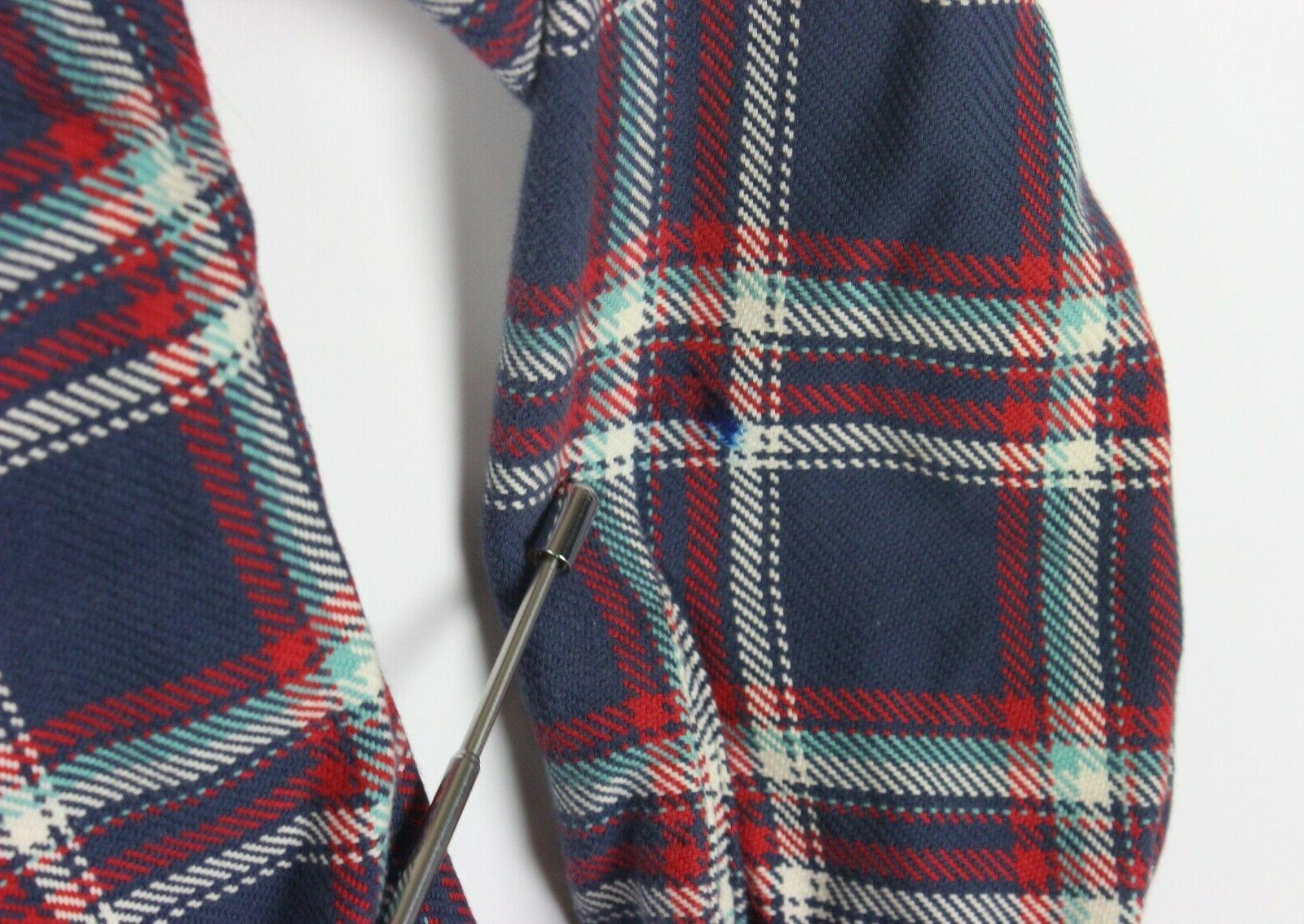 Taylor Stitch Work Shirt 40 Blue Plaid