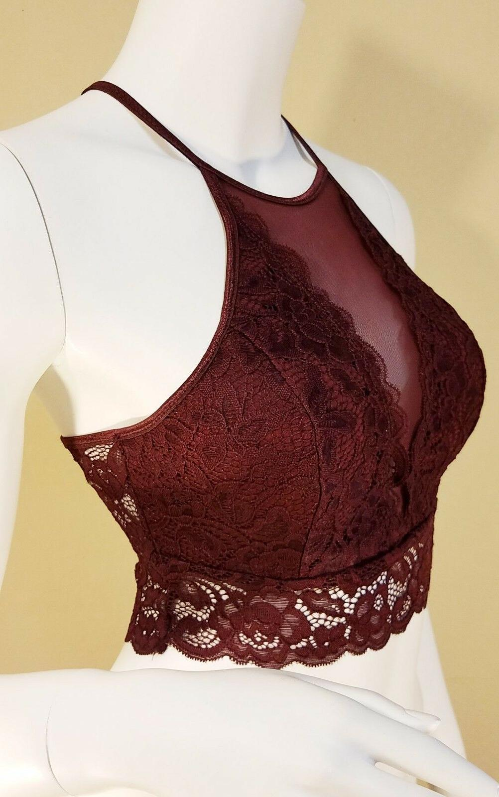 High Lace Bralette Top Crop Tank