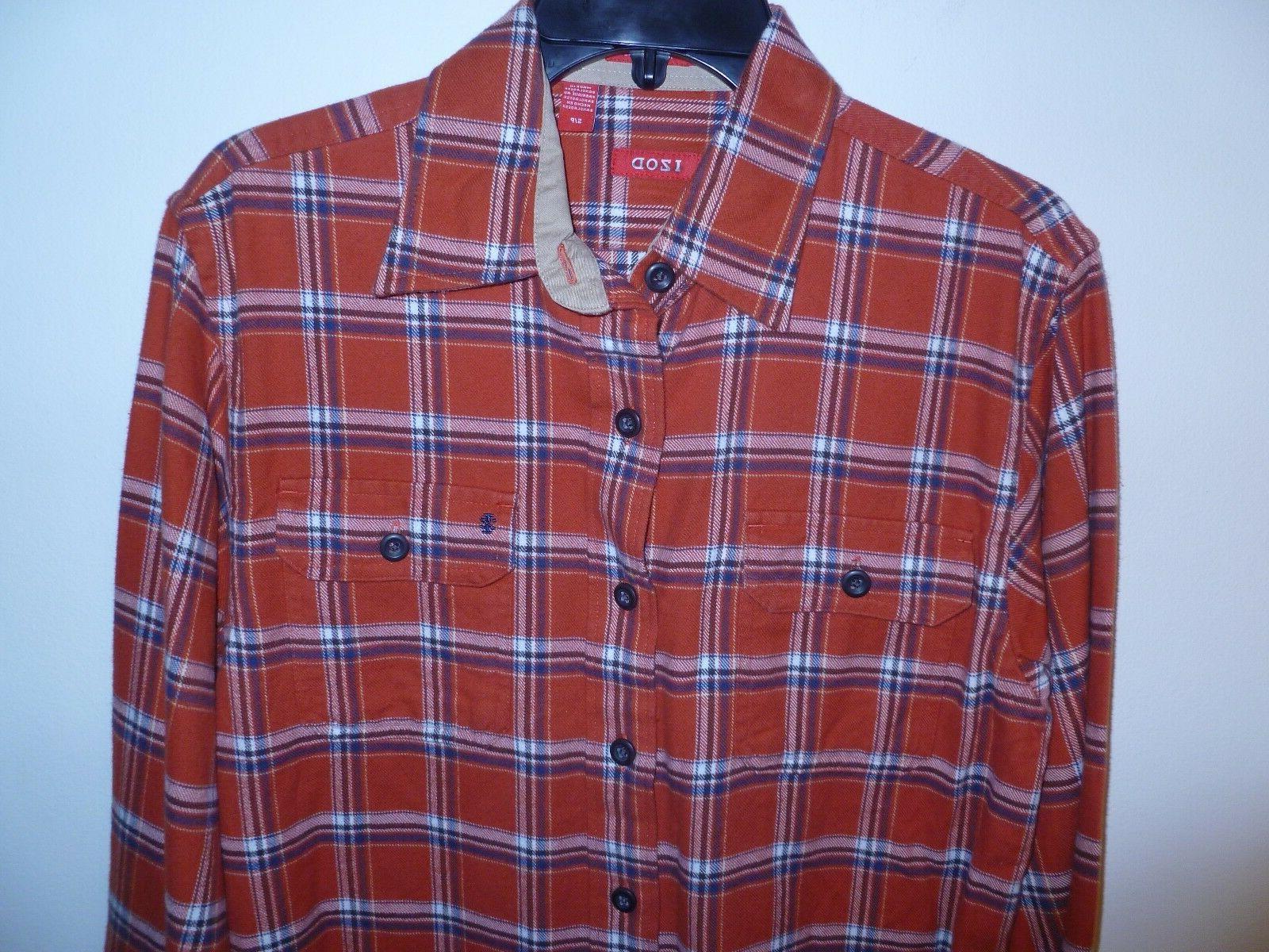 Izod Flannel Shirt Men's Roobios Tea MSRP