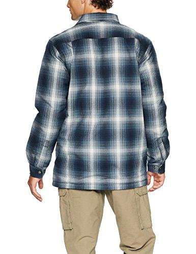 Carhartt Men's Hubbard Flannel Plaid Lined Shirt Jac, Large