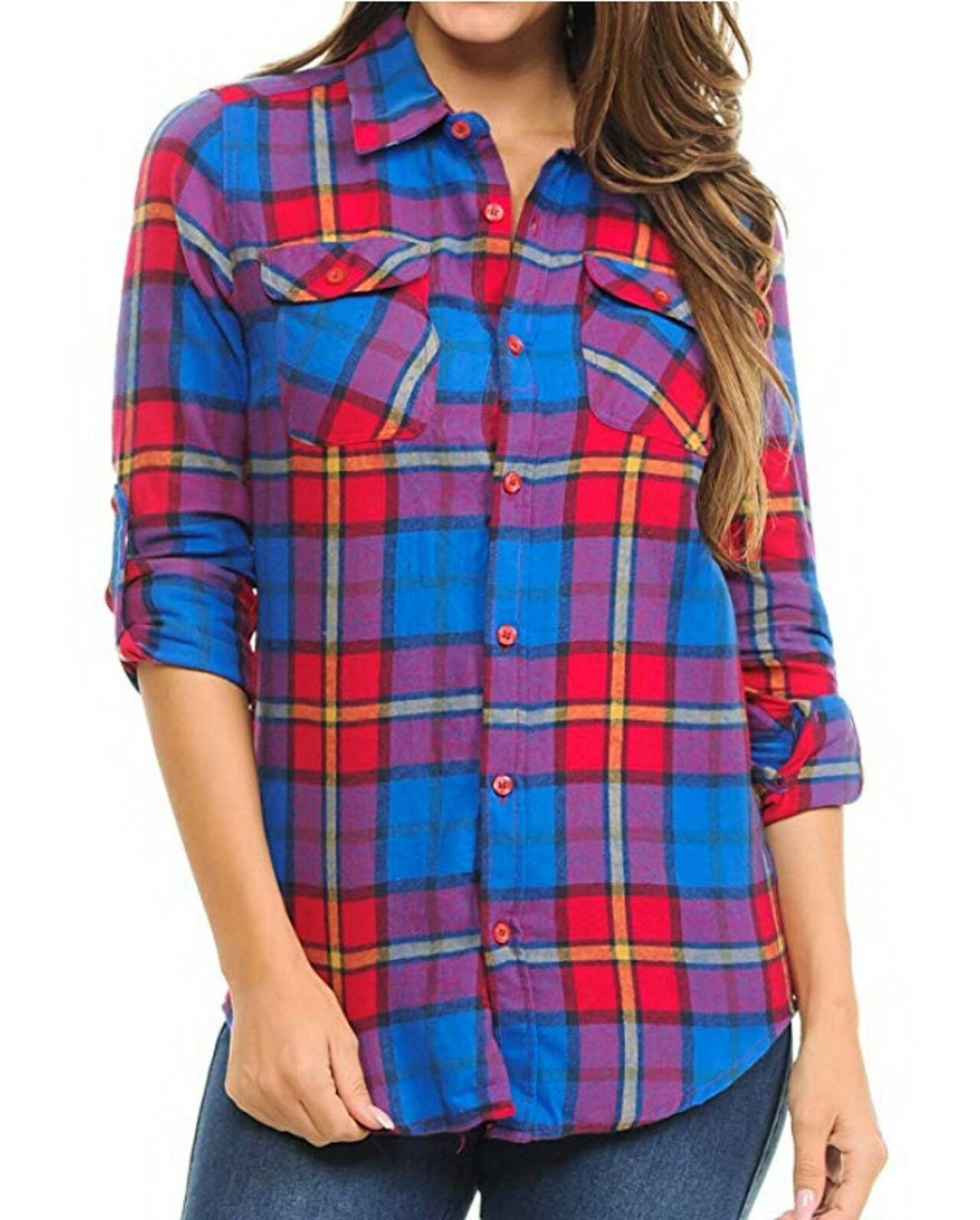 Inso Checkered Long Cotton Button