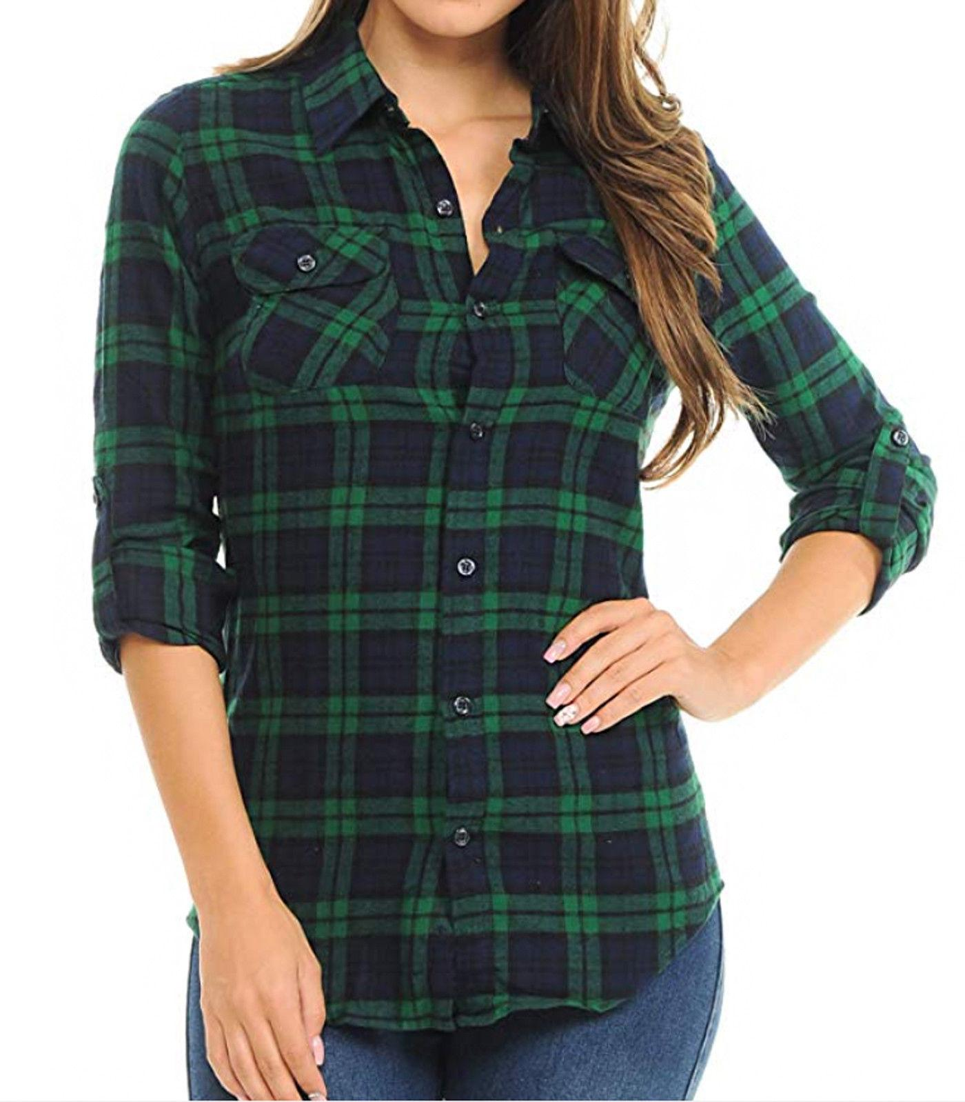 Inso Women's Plaid Button Down Shirts