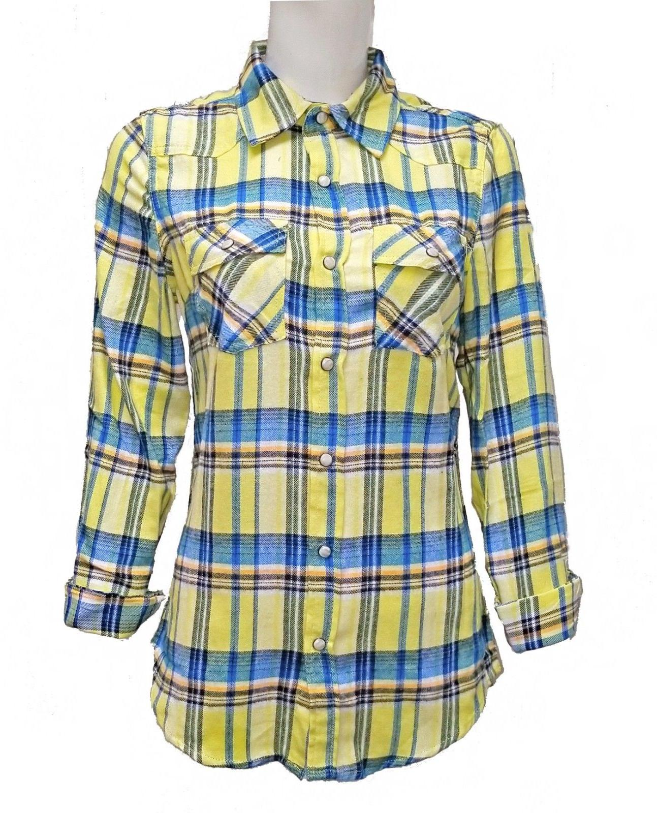 Inso Women's Flannel Checkered Long Button