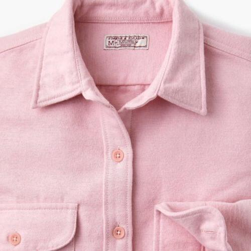 j crew chamois heavyweight flannel shirt xs