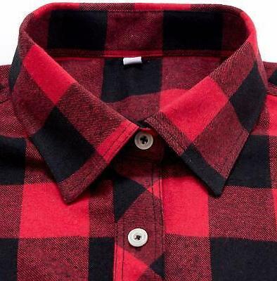 J.VER Men's Plaid Shirts Long Sleeve Fit Button Casual Cott