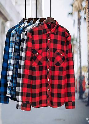 J.VER Men's Plaid Shirts Regular Fit Casual Cott