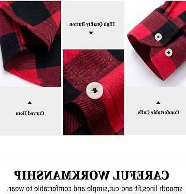 J.VER Men's Flannel Shirts Fit Cott