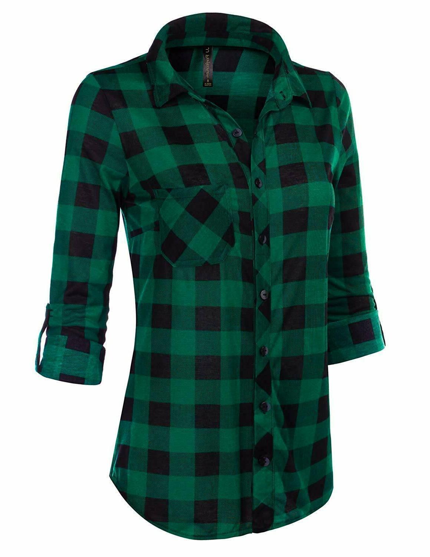 JJ Long Sleeve Plaid Shirt