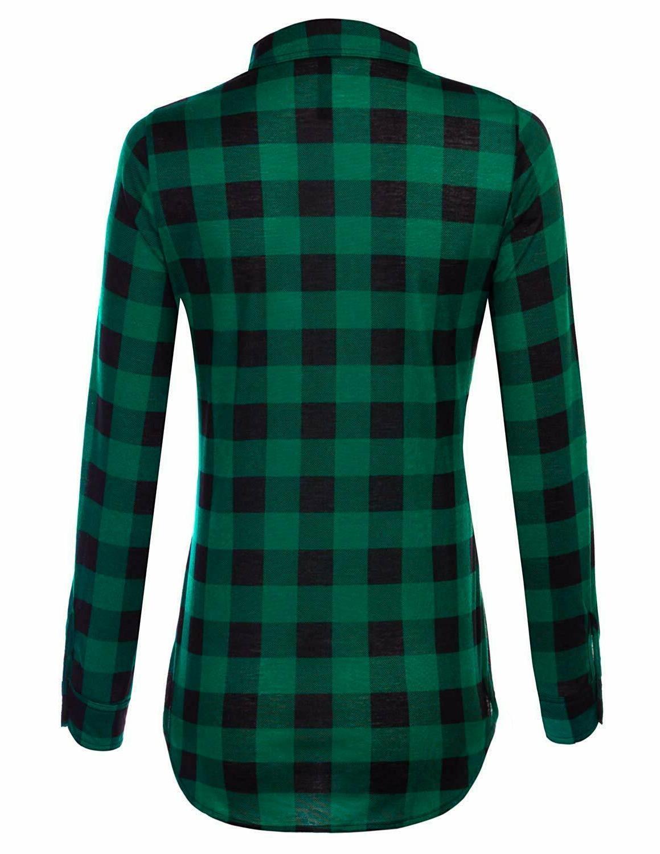 JJ Perfection Womens Sleeve Plaid Flannel
