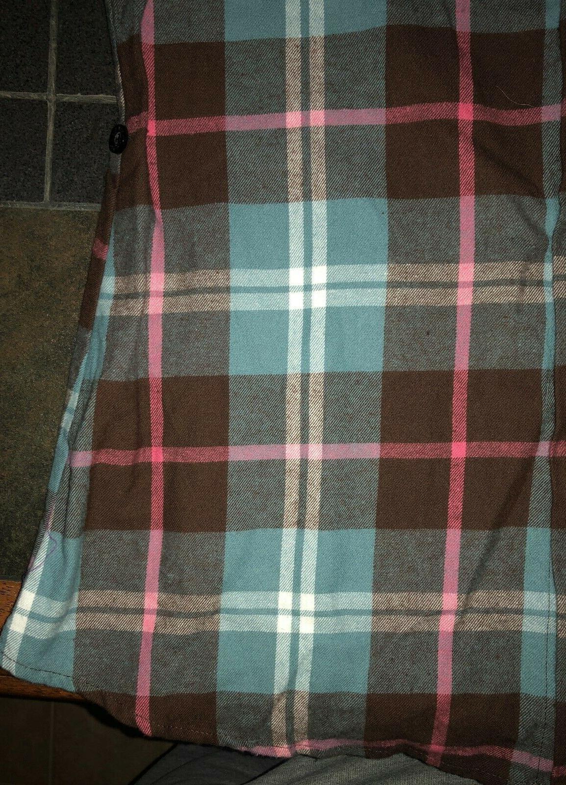 Juniors' Ochenta Flannel Button Shirt Size Small