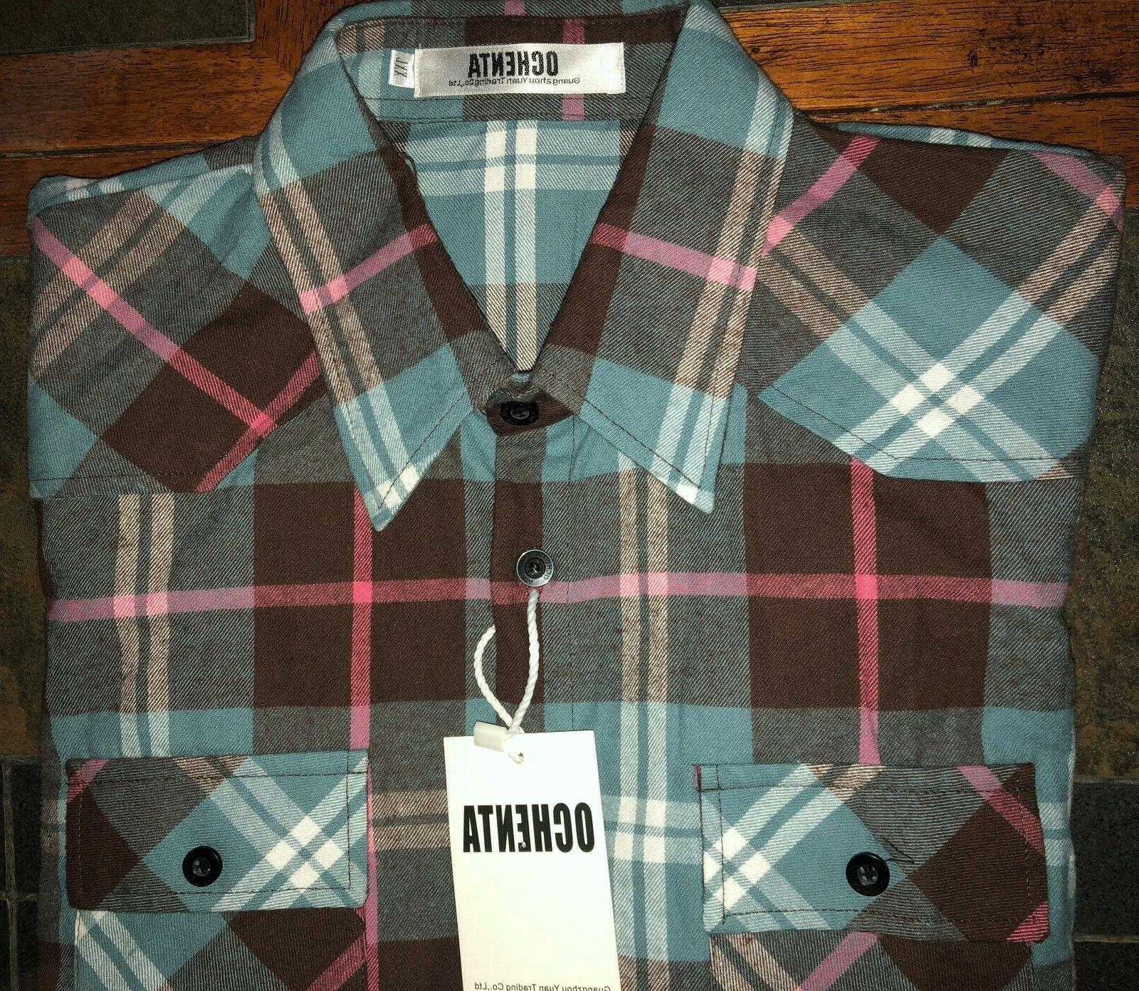 Juniors' Long Sleeve Flannel Button Down Size NWT Small