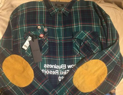 Akoo L/S Bayberry Flannel Button Shirt NWT$99