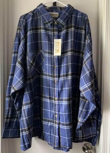 King Big & Tall Plaid Flannel Shirt With