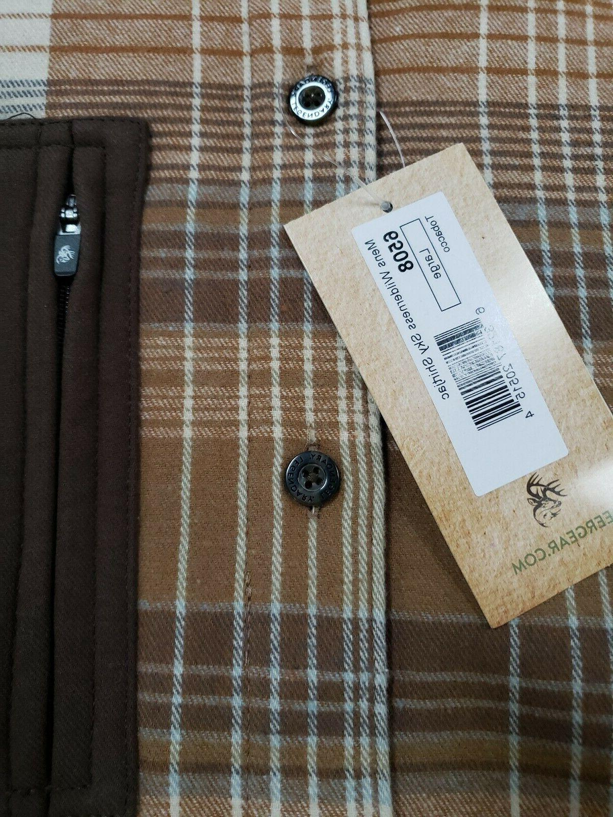L Legendary Whitetails Flannel Up Brown