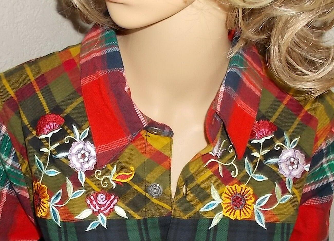BLAIR NEW Flannel Nothing Embroidered Shirt Shirt