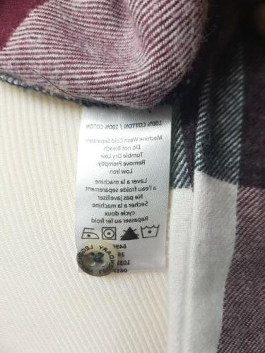 Legendary Popover Flannel Tunic Shirt NWT