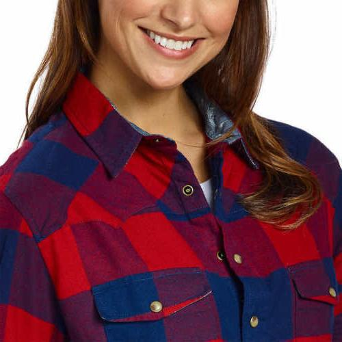 Jachs Ladies' Shirt ,Red/Navy,